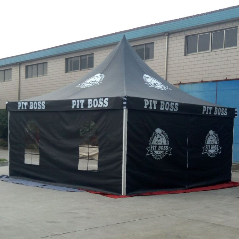 5x5m Customized Pagoda Tent with Black Color Fabric