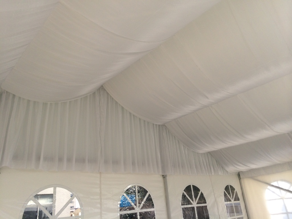 12m Clean Span Tent installation