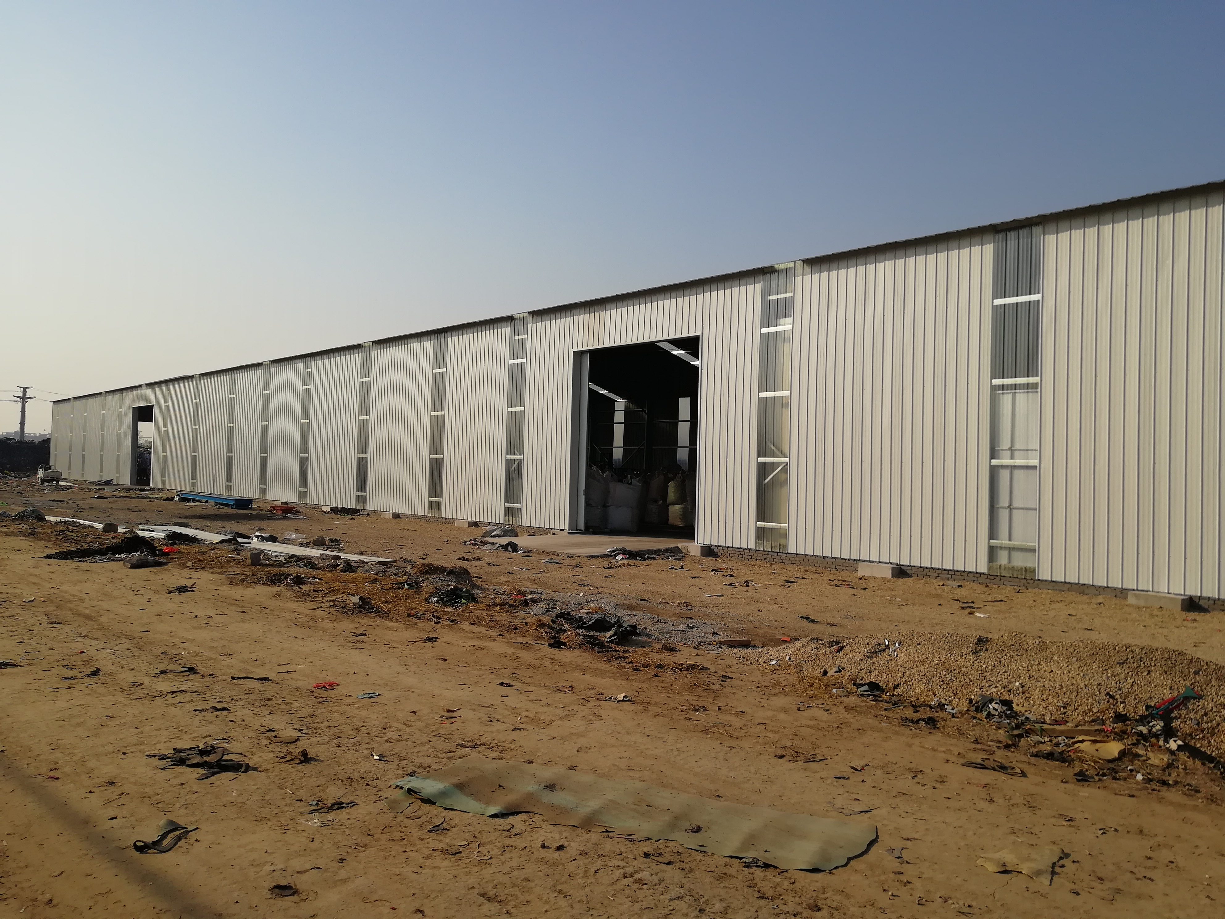 20m Warehouse tent with Galvanized Corrugated Sheets